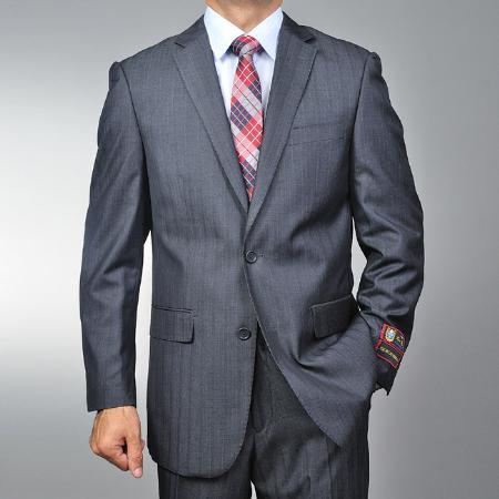 Mens Grey Herringbone Tweed 2button Suit