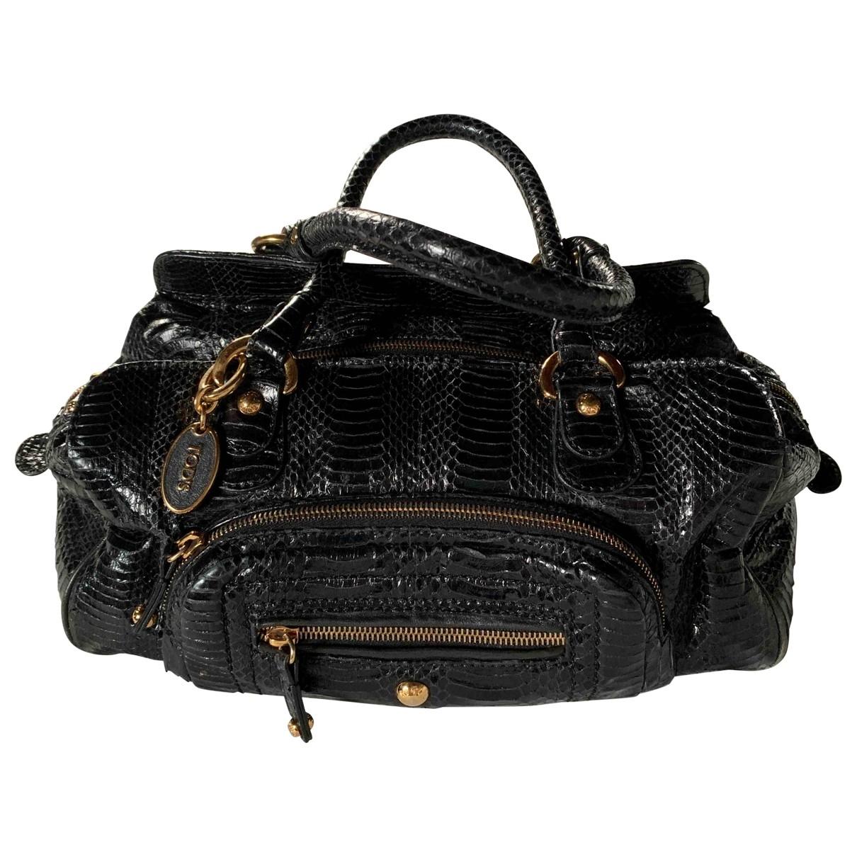 Tod's \N Black Python handbag for Women \N