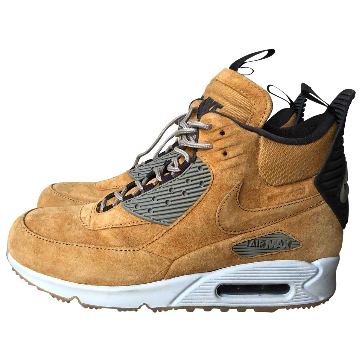 Nike Air Max 90 Camel Leather Trainers for Women 40.5 EU