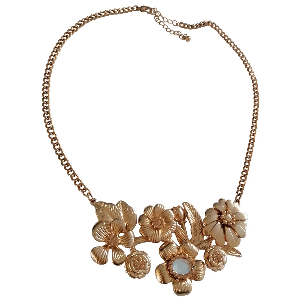 - Collier Motifs Floraux pour femme en metal - dore