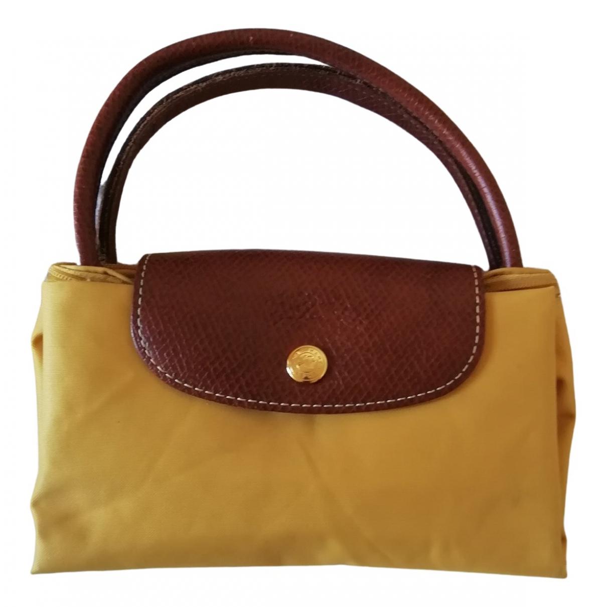 Longchamp - Sac a main Pliage  pour femme - jaune