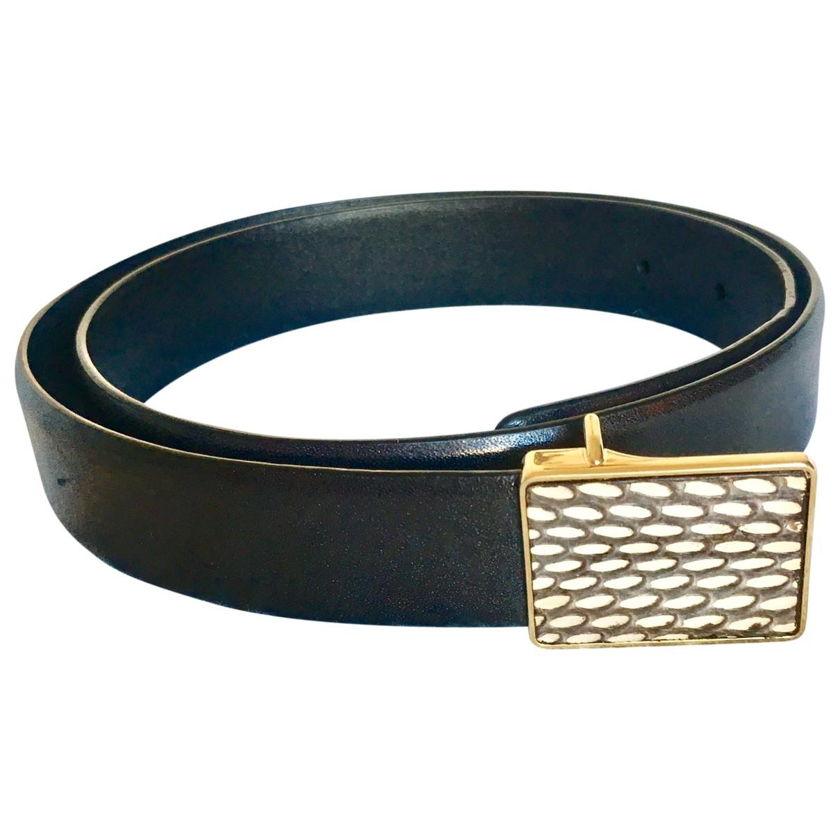 Celine \N Black Leather belt for Women L International