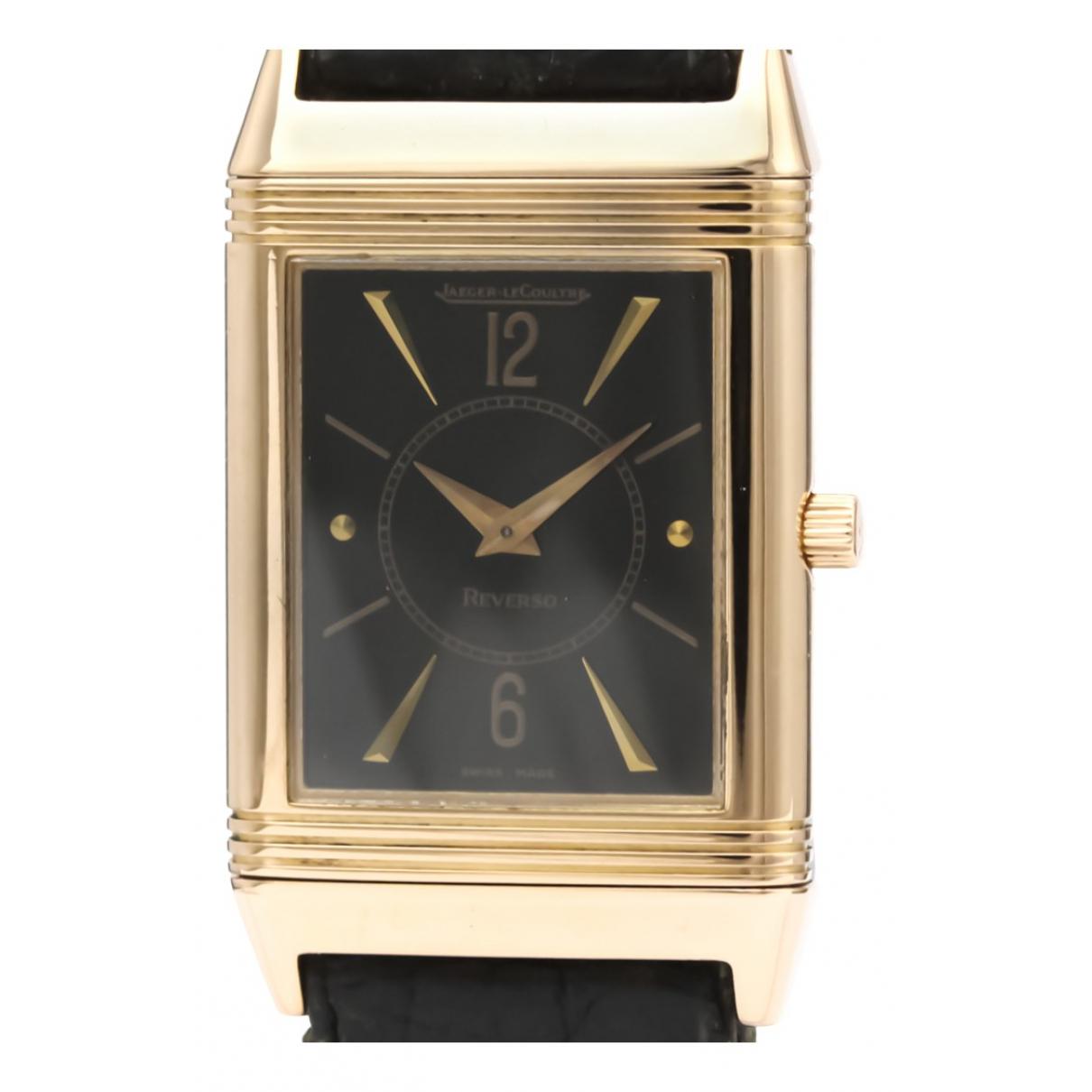 Jaeger-lecoultre Reverso Uhr in  Schwarz Rosegold