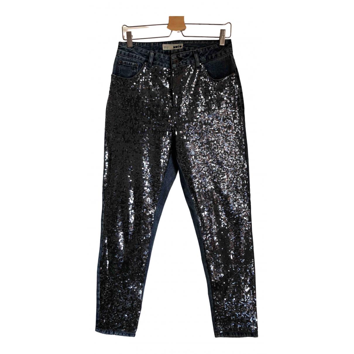 tophop \N Blue Cotton Jeans for Women 30 US