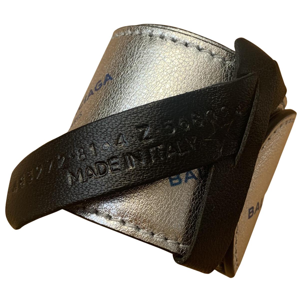 Balenciaga - Bracelet   pour femme en cuir - argente