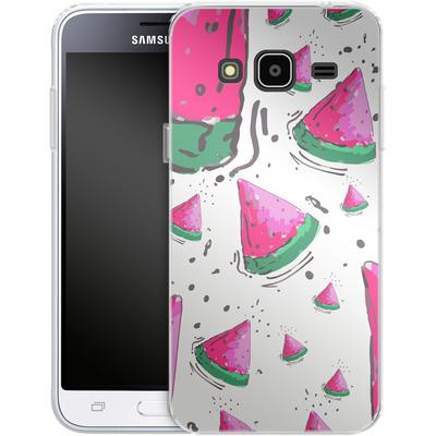 Samsung Galaxy J3 (2016) Silikon Handyhuelle - Watermelon Crush von Mukta Lata Barua