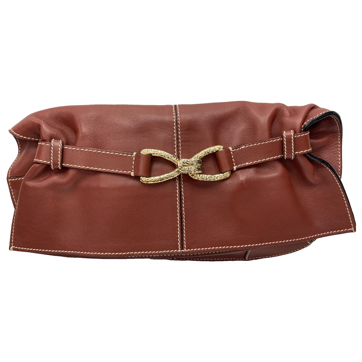 Roberto Cavalli \N Brown Leather Clutch bag for Women \N