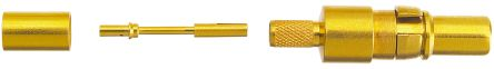 HARTING D-Sub Series size 188 AU, 316 U, RG 174 U Male Crimp, Solder D-Sub Connector Coaxial Contact, Gold Plated