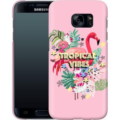 Samsung Galaxy S7 Smartphone Huelle - Flamingo Solo von Mukta Lata Barua