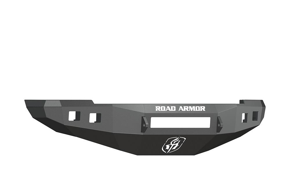 DODGE Front Non-Winch Bumper Square Light Ports 2500,3500,4500,5500 RAM 10-15 BLACK Road Armor 408R0B-NW Stealth Series