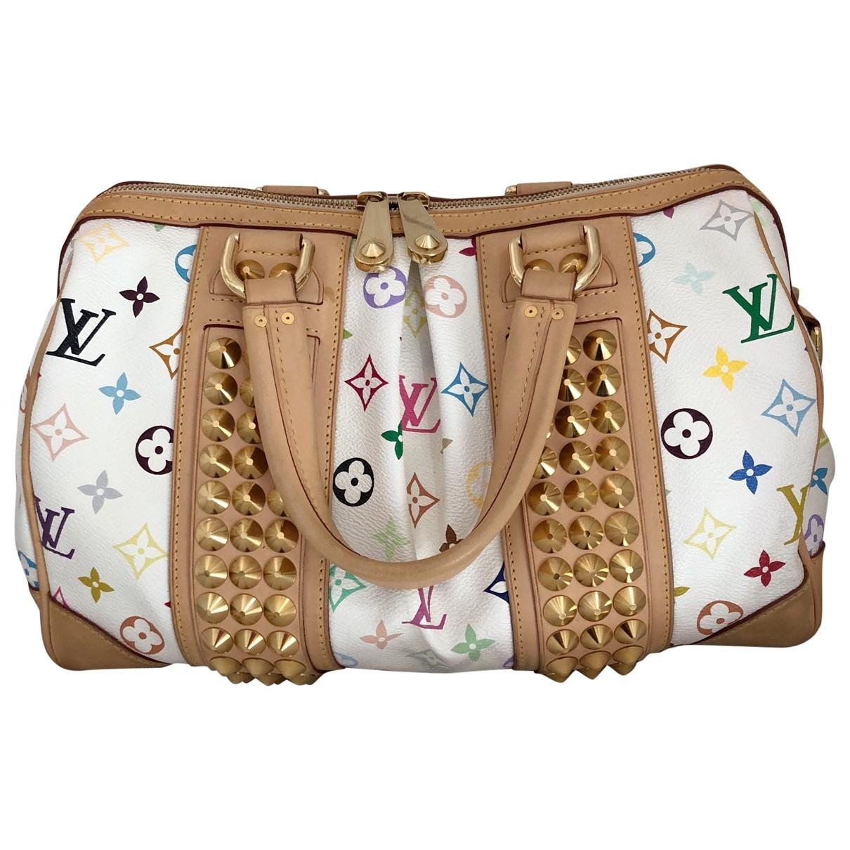 Louis Vuitton Courtney Handtasche in  Weiss Leinen