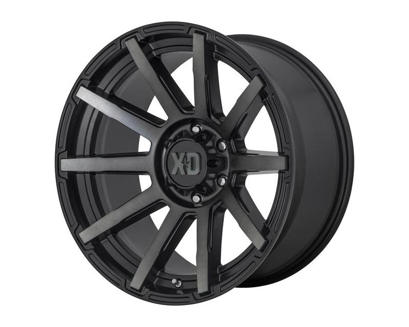 XD Series XD84729077418 Outbreak Wheel 20x9 6X120 18mm Satin Black w/Gray Tint