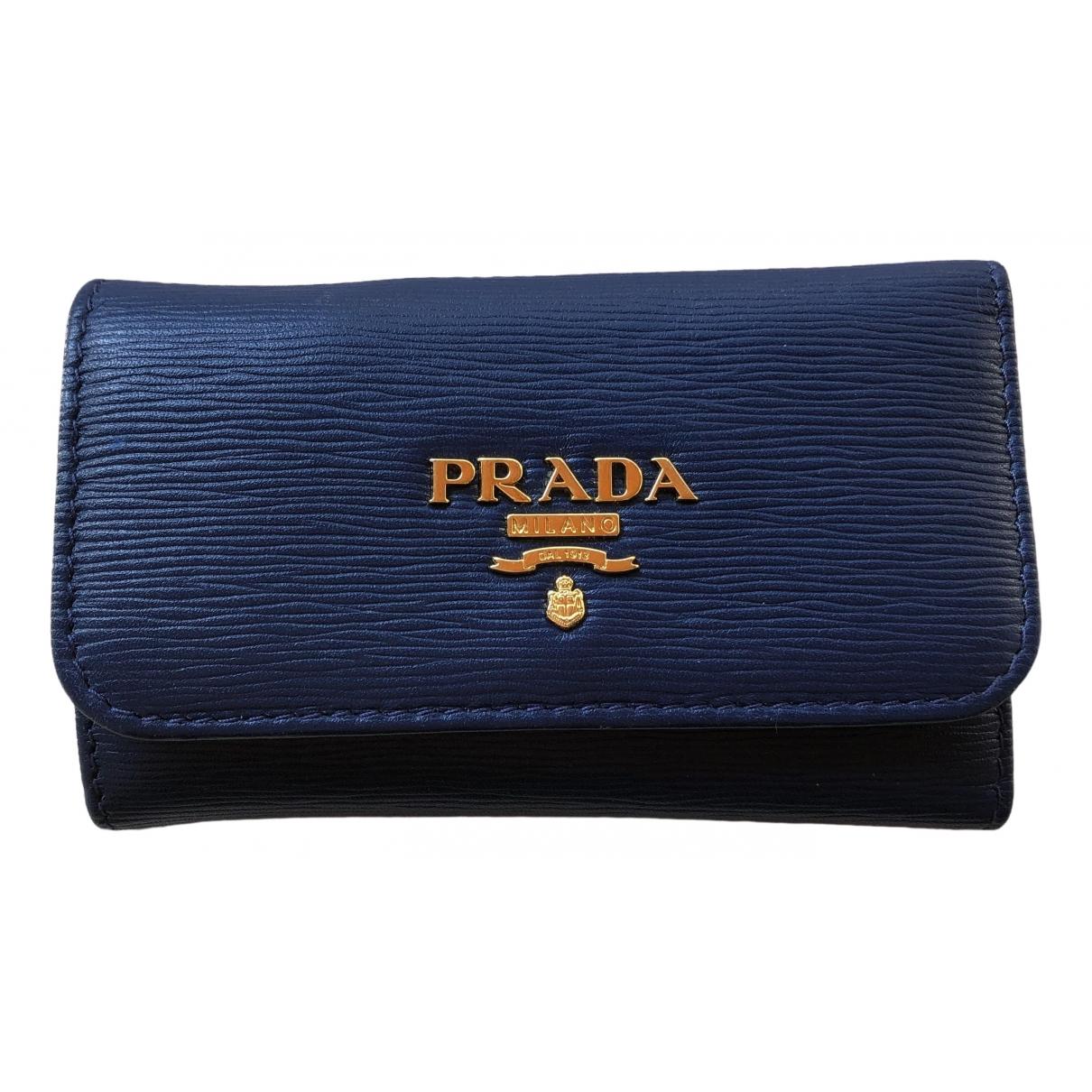 Prada - Petite maroquinerie   pour femme en cuir - bleu