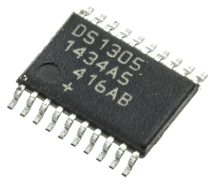 Maxim Integrated DS1305E+, Real Time Clock (RTC), 96B RAM Serial-SPI, 20-Pin TSSOP (74)