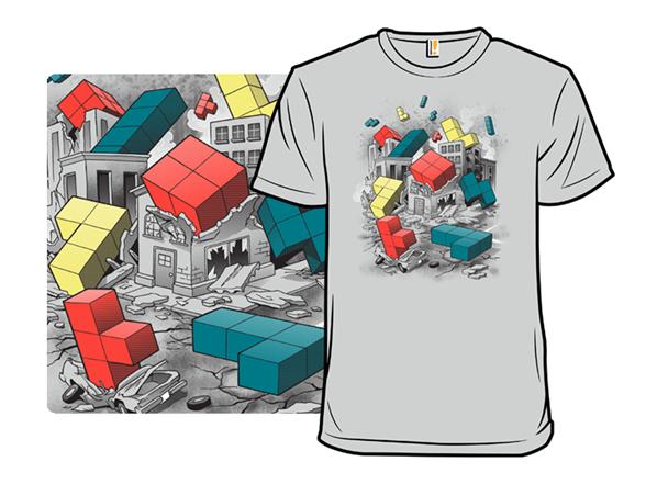 Angry Tetris God T Shirt