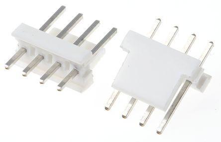 TE Connectivity , MTA-100, 4 Way, 1 Row, Straight PCB Header (10)