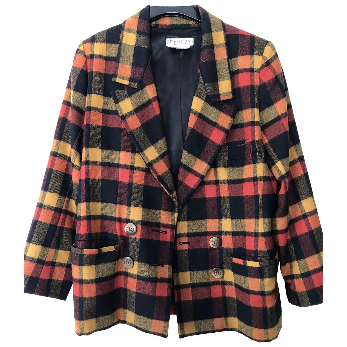 Yves Saint Laurent - Manteau   pour femme en laine - multicolore