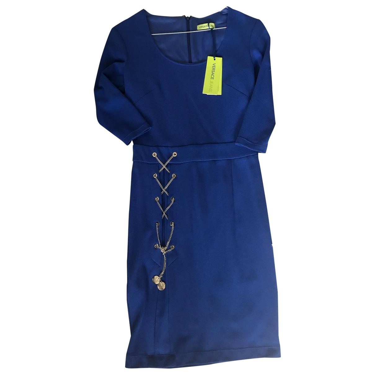 Versace Jeans \N Kleid in  Blau Viskose