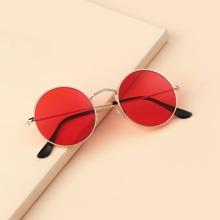 Gafas de sol de hombres de marco redondo