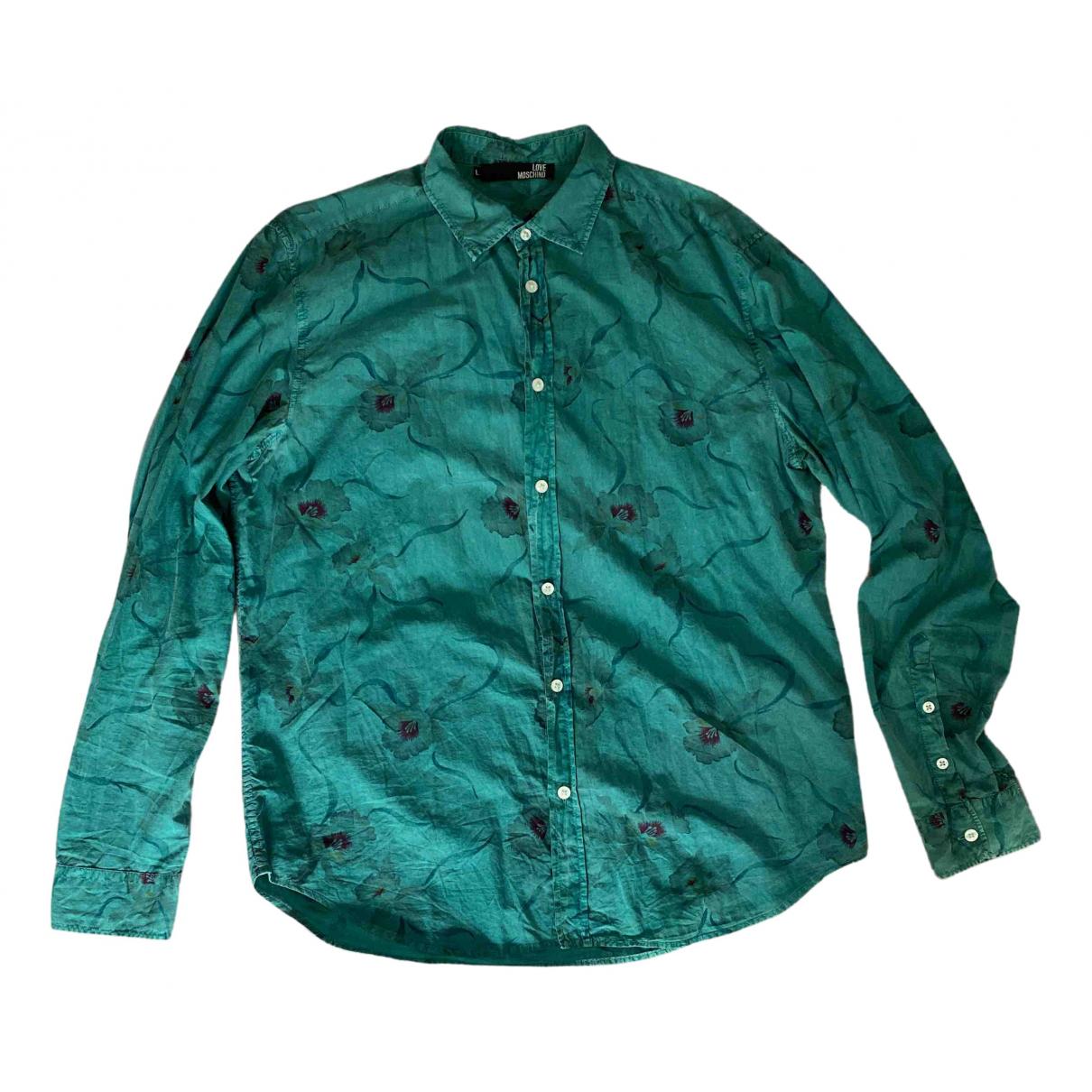 Moschino Love - Chemises   pour homme en coton - vert