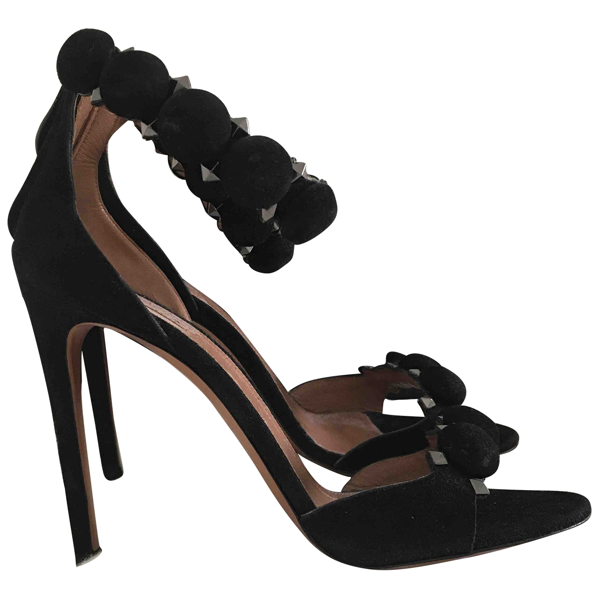 Alaia \N Pumps in  Schwarz Veloursleder