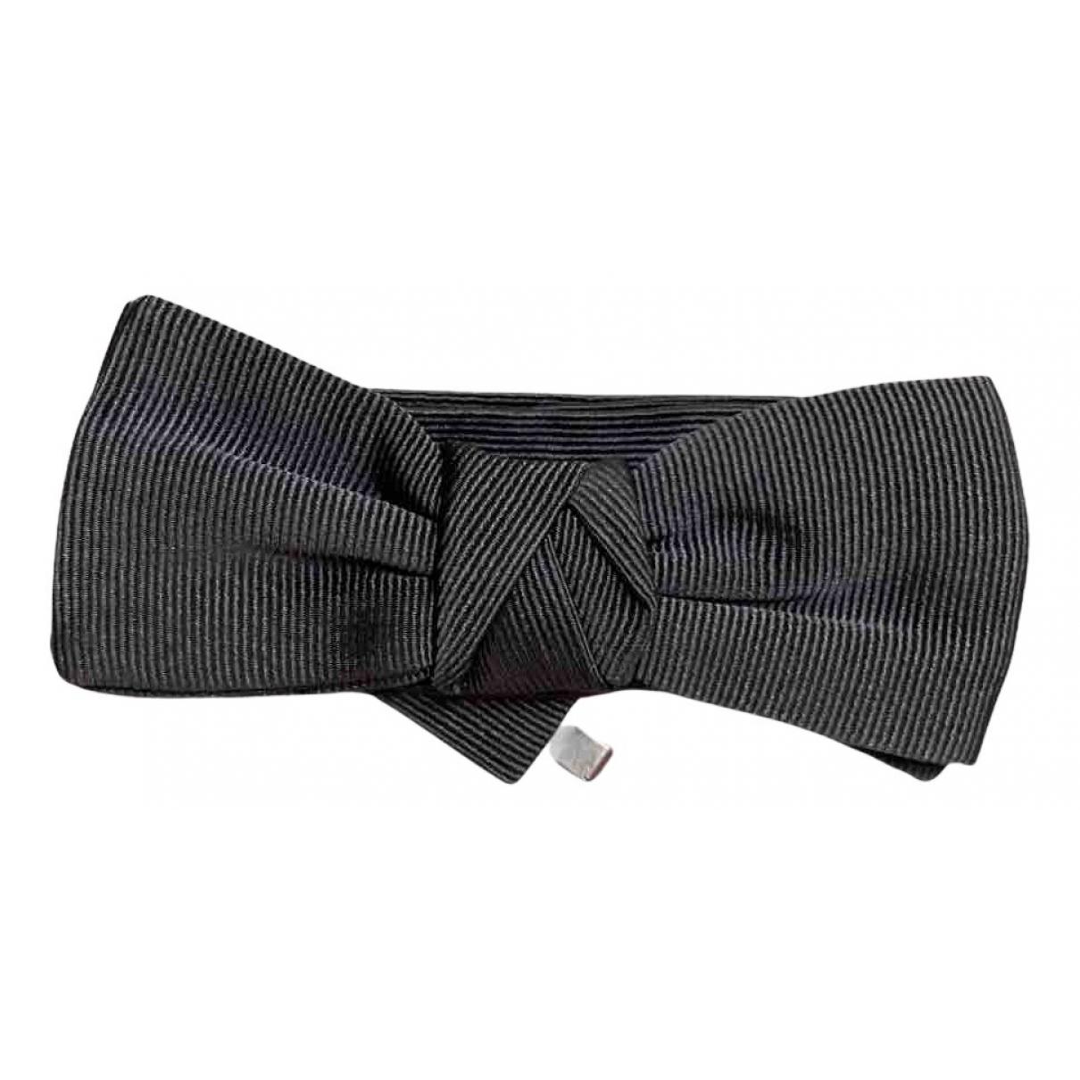 Neil Barrett - Cravates   pour homme en soie - gris