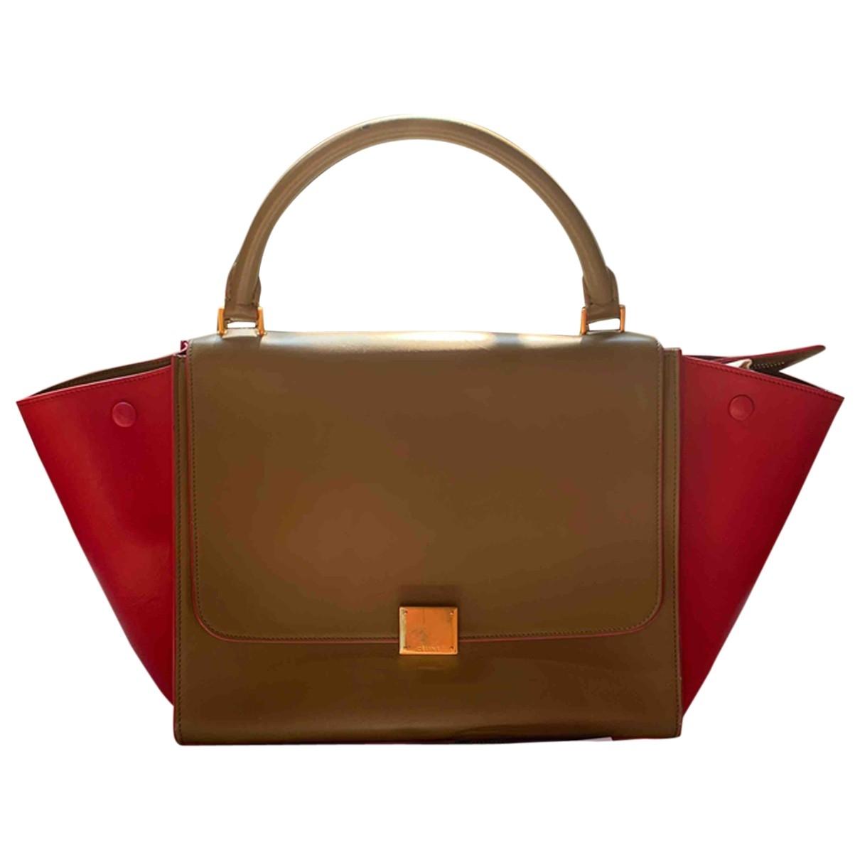 Celine Trapèze Beige Leather handbag for Women \N
