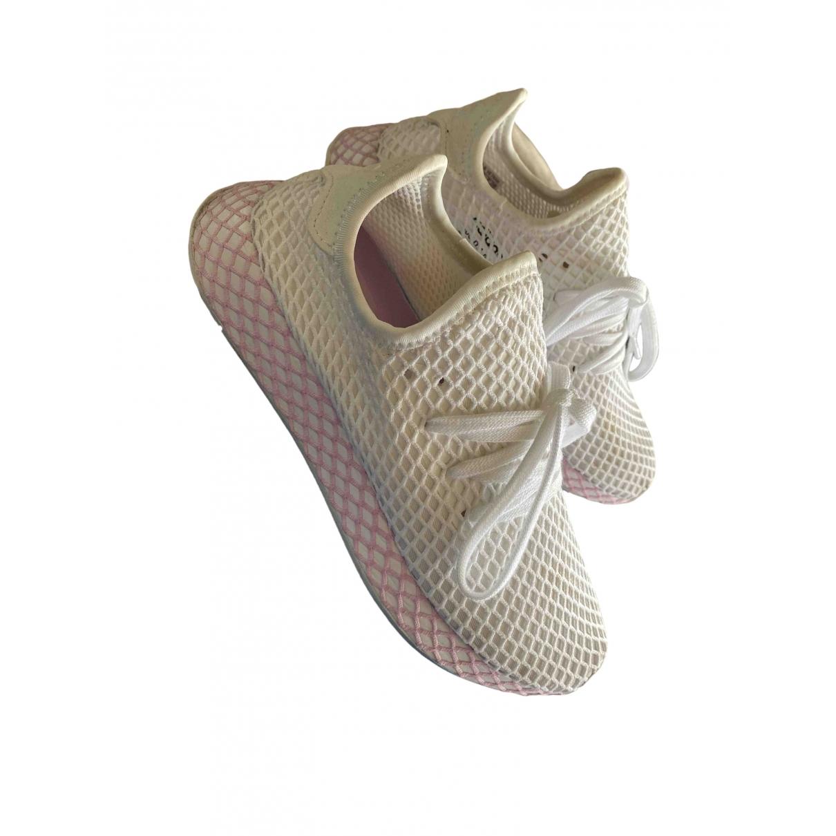 Adidas Deerupt Runner Sneakers in  Weiss Leinen
