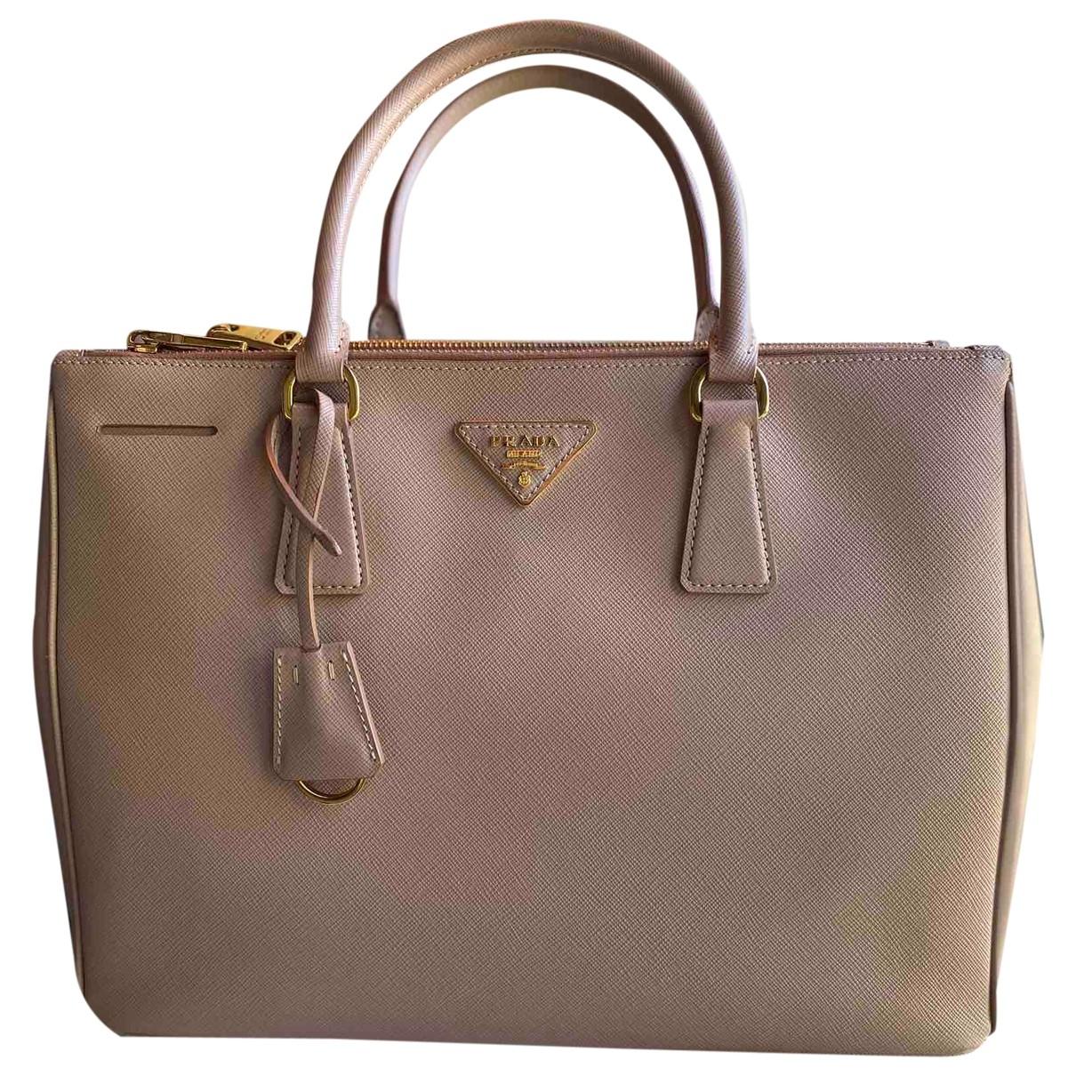 Prada saffiano  Beige Leather handbag for Women \N