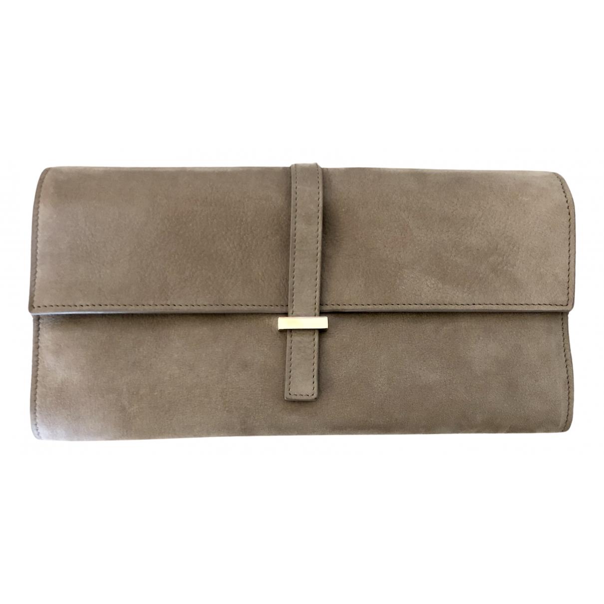 Asprey Of London N Grey Leather Purses, wallet & cases for Women N