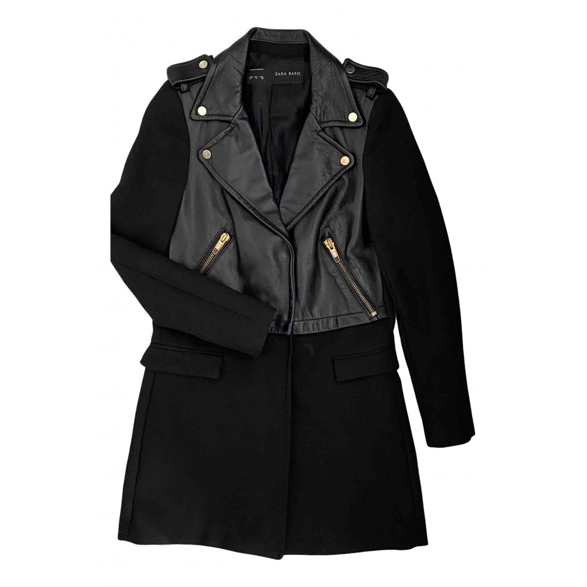 Zara - Manteau   pour femme en coton - noir
