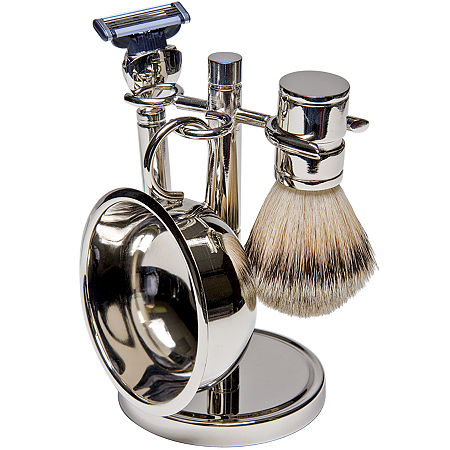 Harry D. Koenig 4-pc. Silver-Plated Shave Set For Men, One Size , Gray