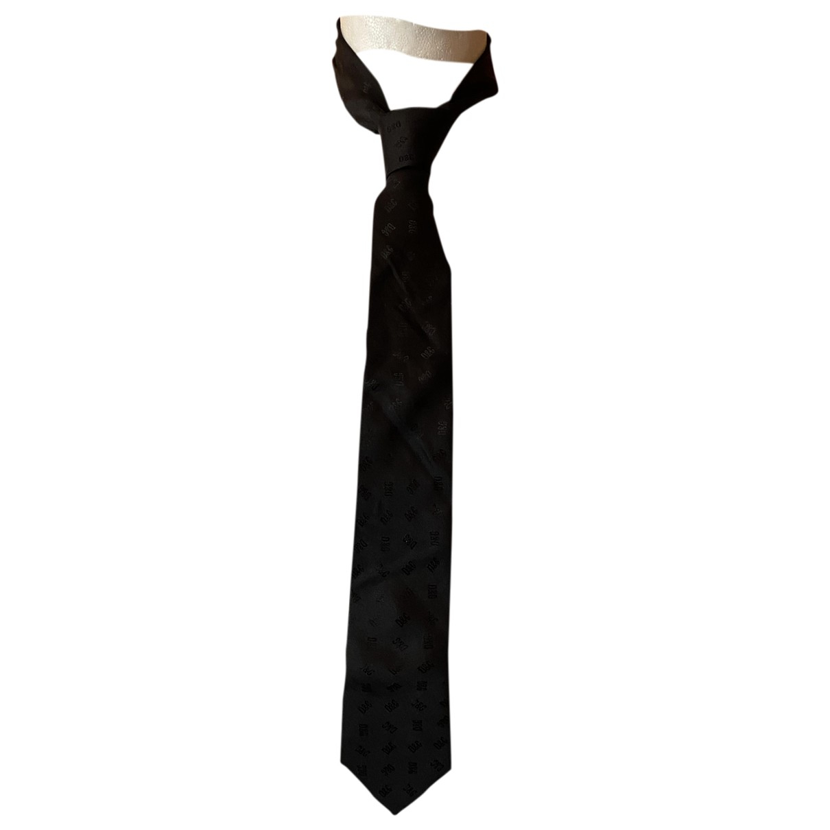 D&g - Cravates   pour homme en soie - noir
