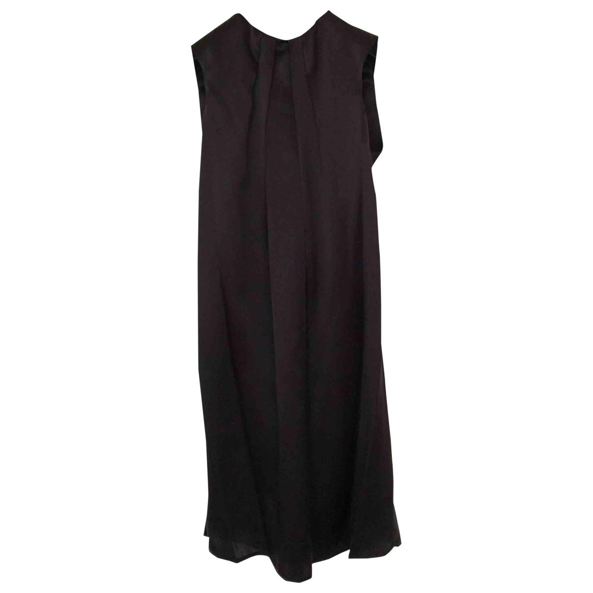 Tara Jarmon \N Brown Silk dress for Women 38 FR