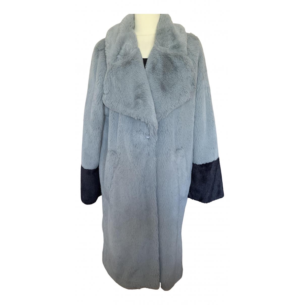 Baum Und Pferdgarten - Manteau   pour femme en fourrure synthetique - gris