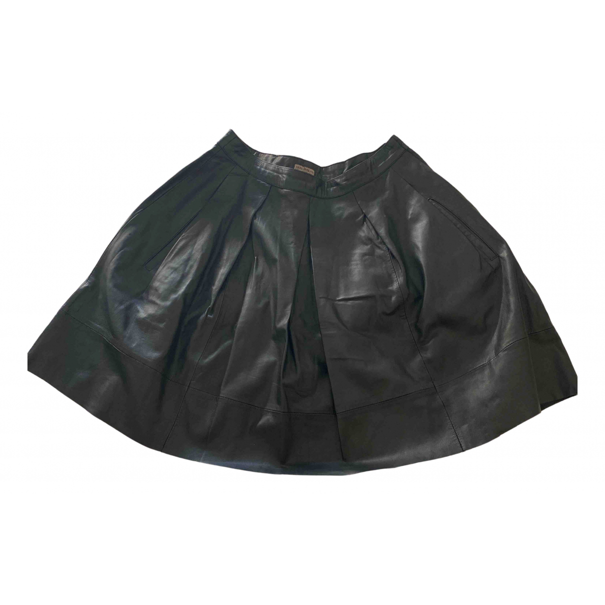 Maliparmi N Black Leather skirt for Women 40 IT