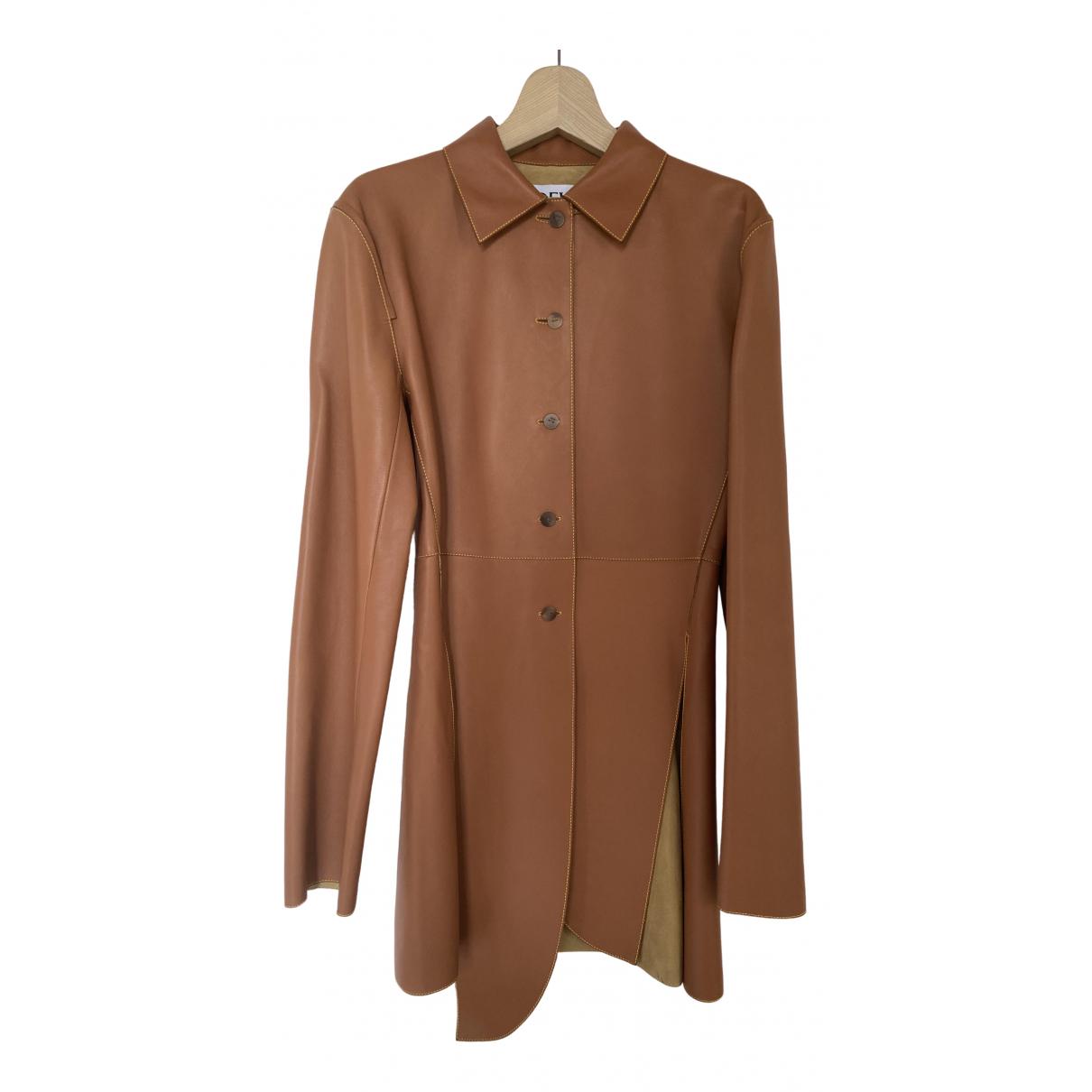 Loewe - Veste   pour femme en cuir - camel