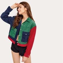 Colorblock Corduroy Jacket