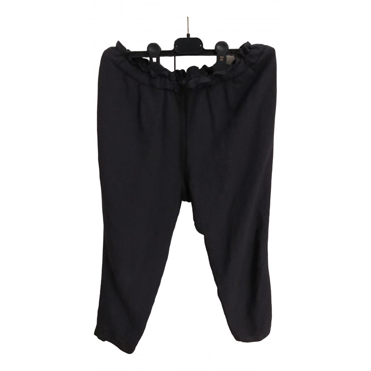 Pomandère \N Blue Trousers for Women 38 IT