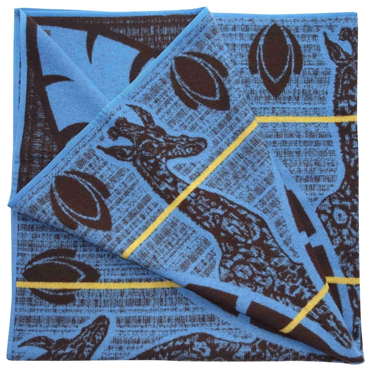 Louis Vuitton \N Heimtextilien in  Blau Wolle