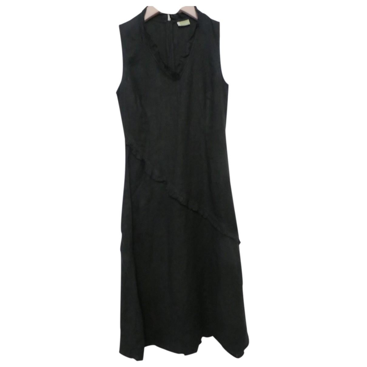 Autre Marque \N Kleid in  Schwarz Leinen