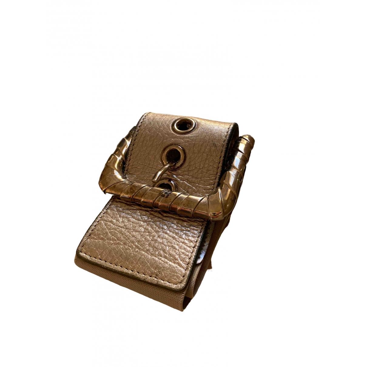 D&g \N Metallic Leather belt for Women 80 cm