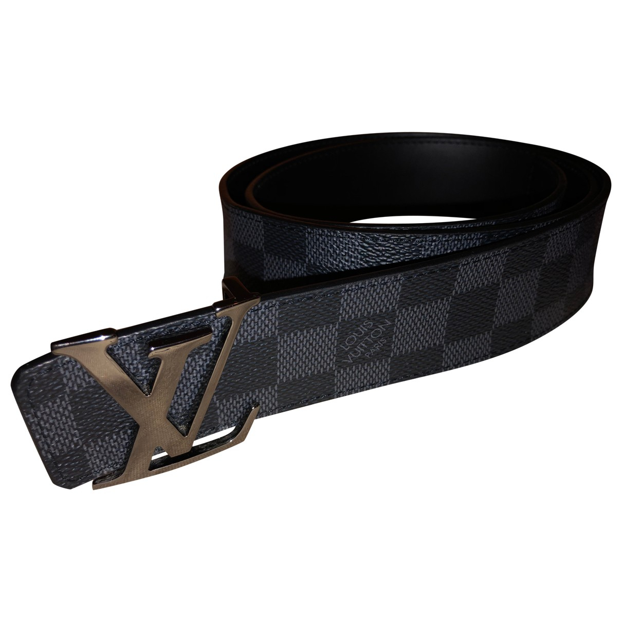 Louis Vuitton Initiales Black Cloth belt for Men 90 cm