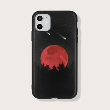 iPhone Huelle mit Sonnenuntergang & Meteor Muster