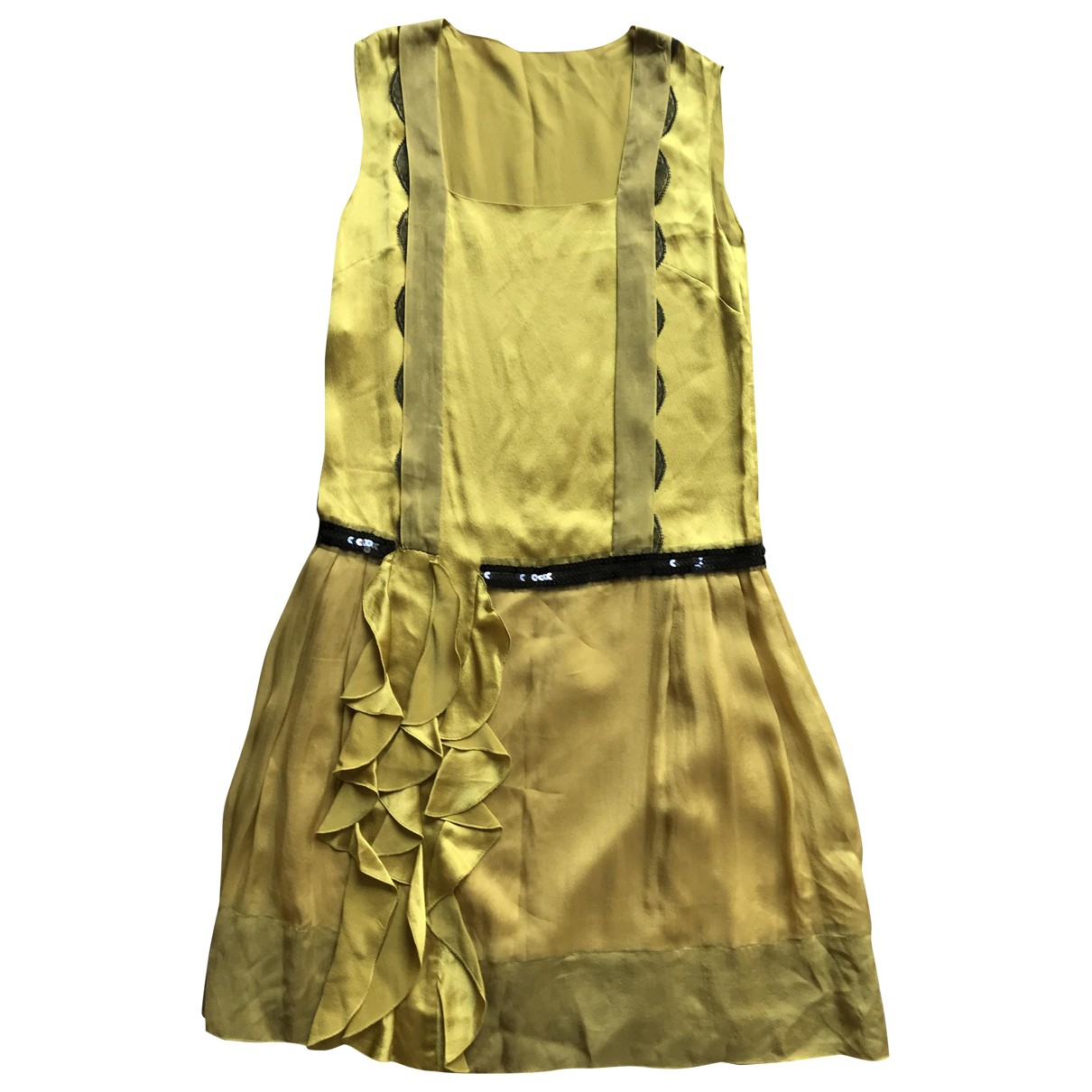 Philosophy Di Alberta Ferretti \N Kleid in  Gelb Seide