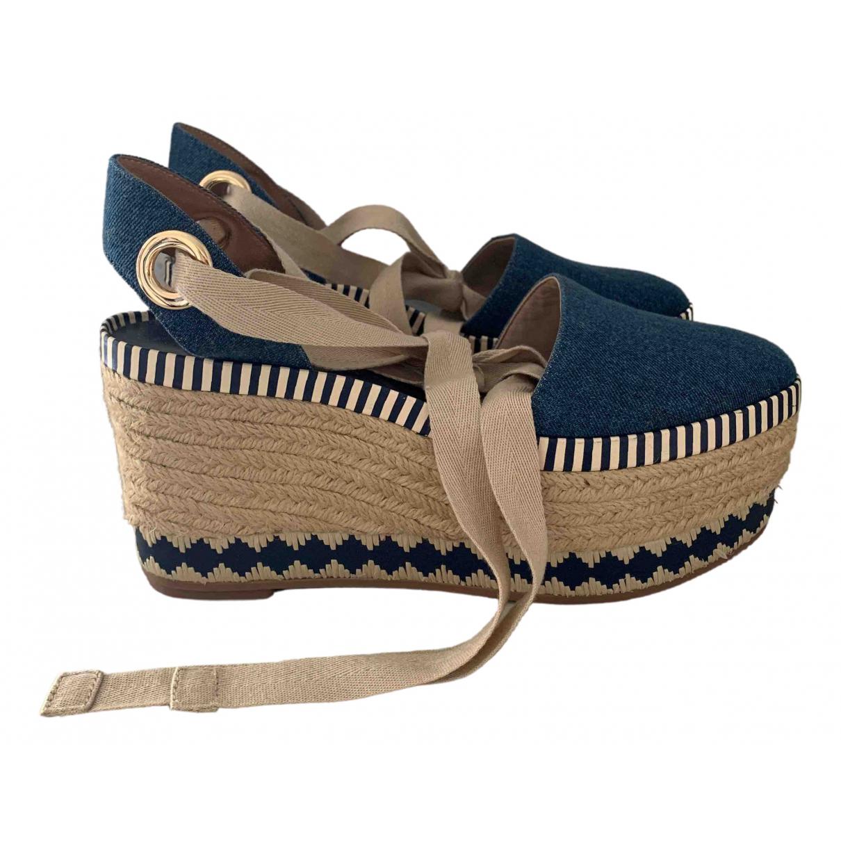 Tory Burch \N Blue Denim - Jeans Espadrilles for Women 8 US