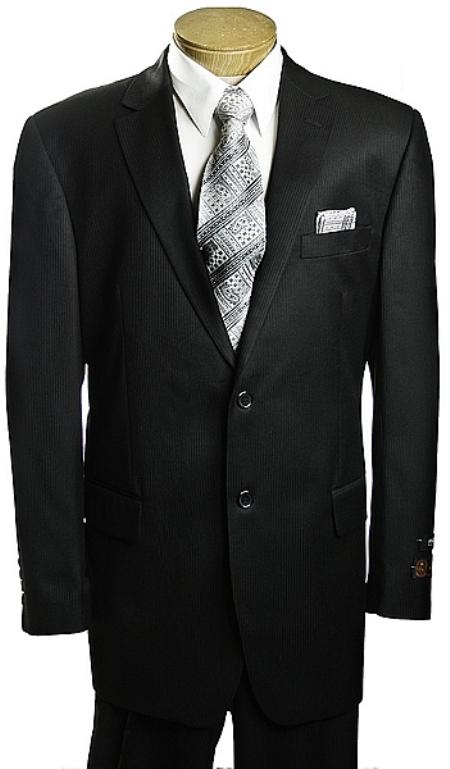 2 Button Black Tone/Tone affordable suit online sale