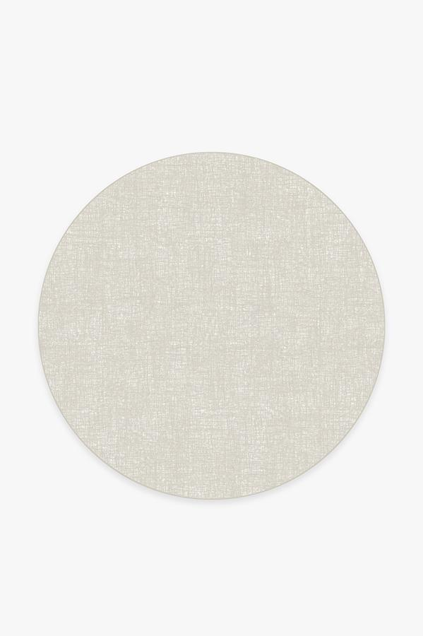 Washable Rug Cover | Crosshatch Light Grey Rug | Stain-Resistant | Ruggable | 6 Round
