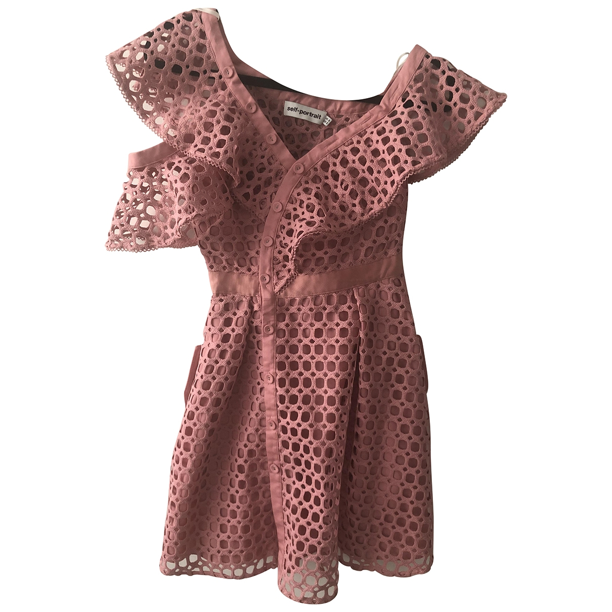 Self Portrait \N Pink Cotton - elasthane dress for Women 6 UK