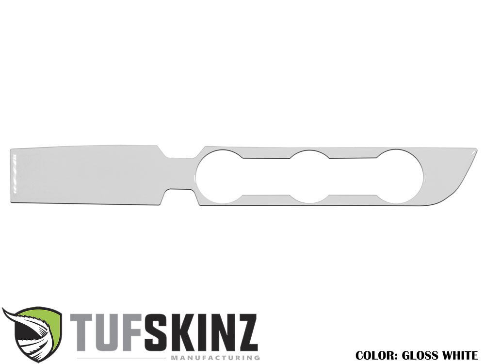 Tufskinz TAC019-WHT-G Climate Control Accent Trim Fits 16-up Toyota Tacoma 2WD and Key Ignition No Push to Start in Gloss White